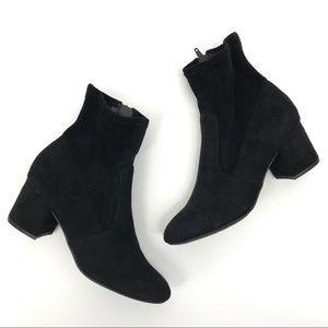Unisa classic black ankle block heel booties